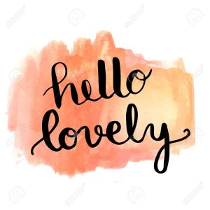 57067771-hello-lovely-hand-lettering-message-on-watercolor-painted-background